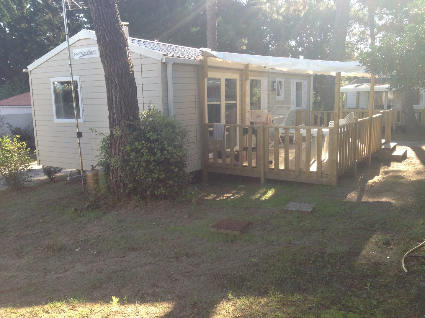 Location - Mobil Home Chipiron 3 Chambres - Camping-Club Les Pins