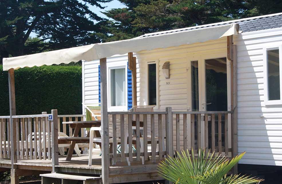 Location - Mobil Home Grand Confort 2 Chambres Terrasse Bois - Camping Antioche