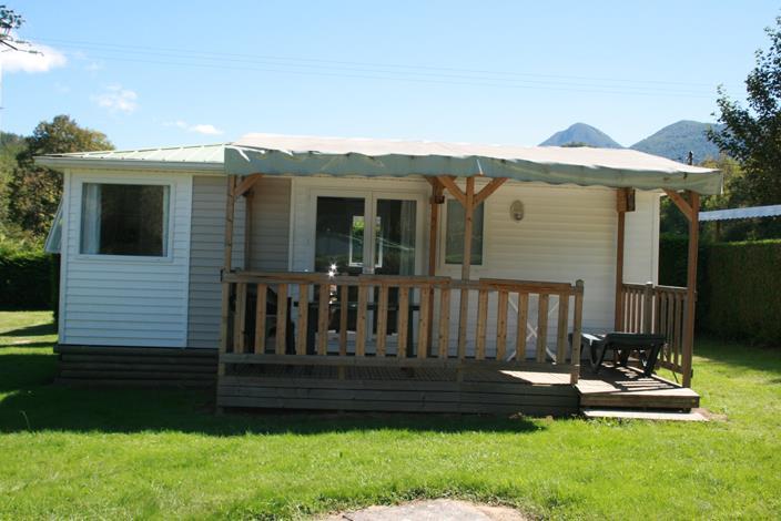 Location - Mobil-Home Erce Avec Terrasse Couverte 2 Salles D'eau - Camping Les 4 Saisons