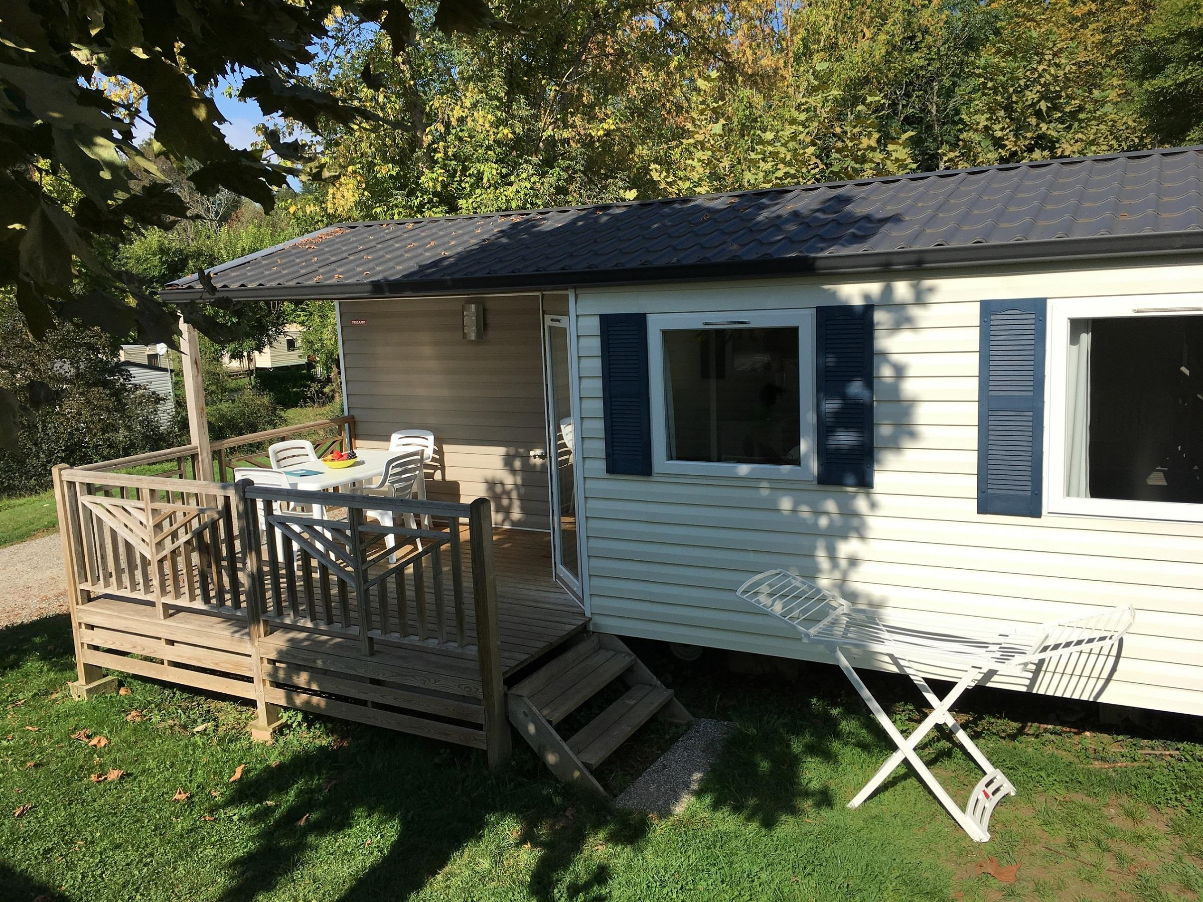 Location - Mobil Home - 2 Chambres - Camping Parc d'Audinac les Bains