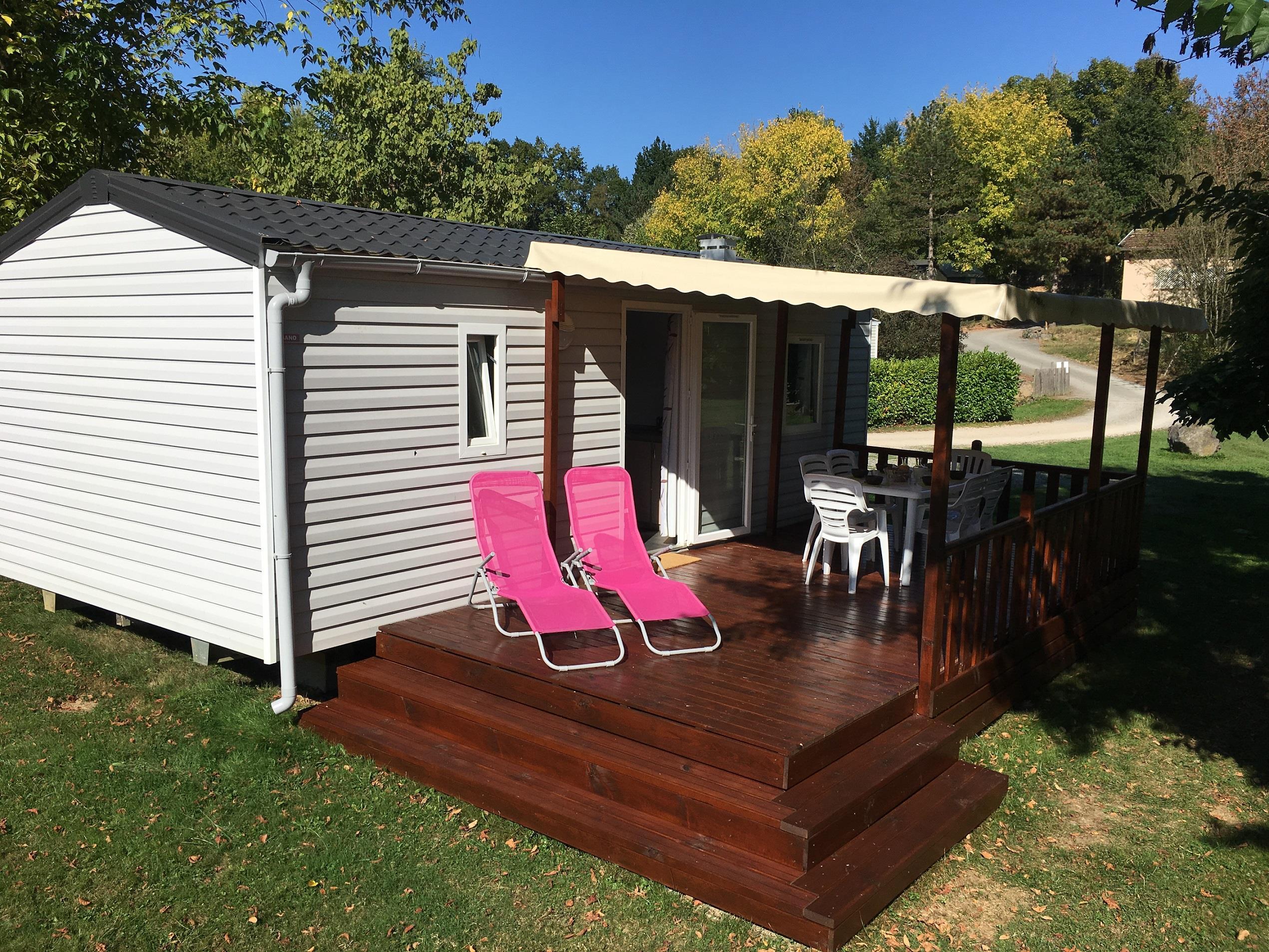 Location - Mobil Home Sencilio Avec Sanitaires - Camping Parc d'Audinac les Bains
