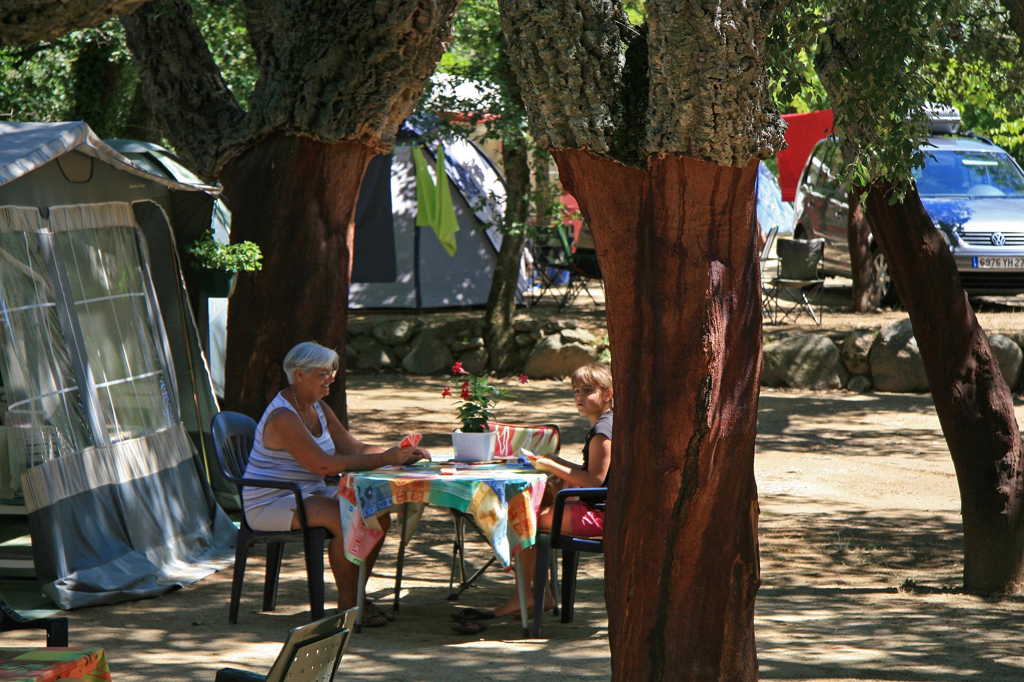Emplacement - Forfait 2 : Emplacement + Tente Ou Caravane Ou Camping-Car + Véhicule + Électricité 16A - Camping Les Albères
