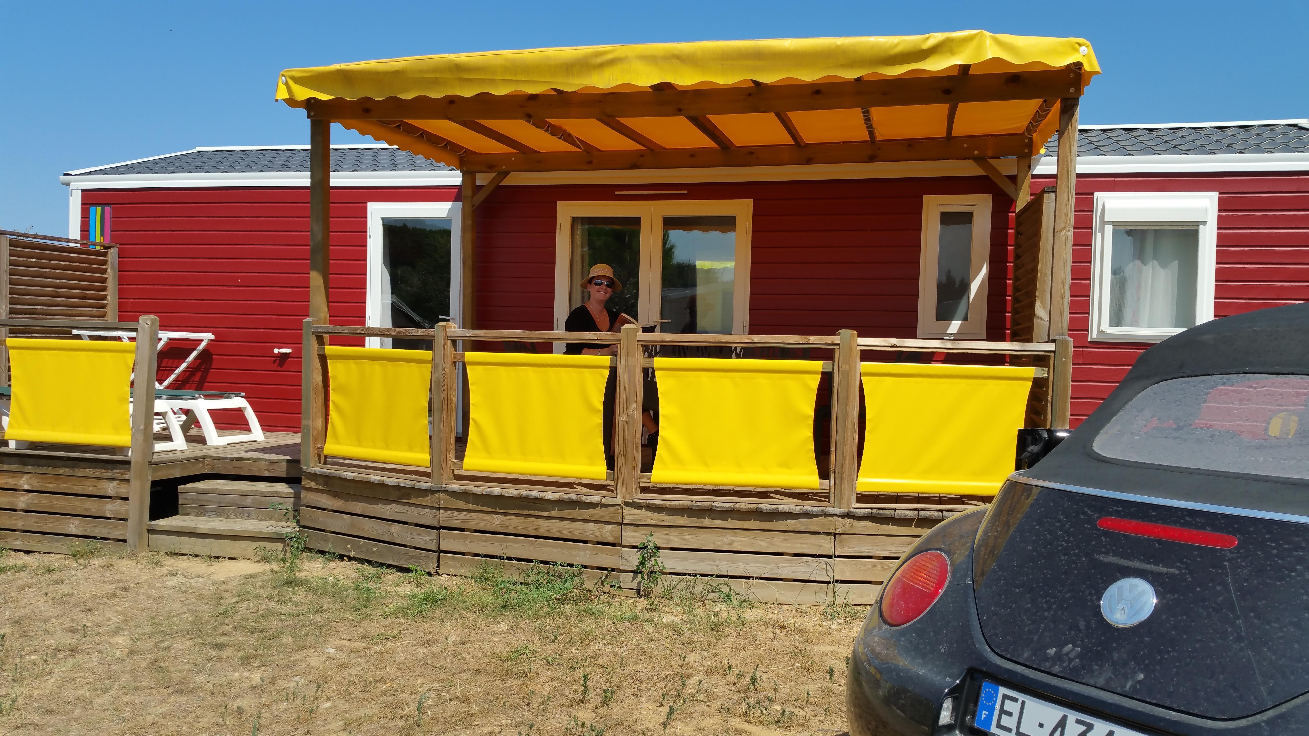 Location - Gamme Trio Premium 40M2  6 Pers Tout Équipé - Camping Les Albères