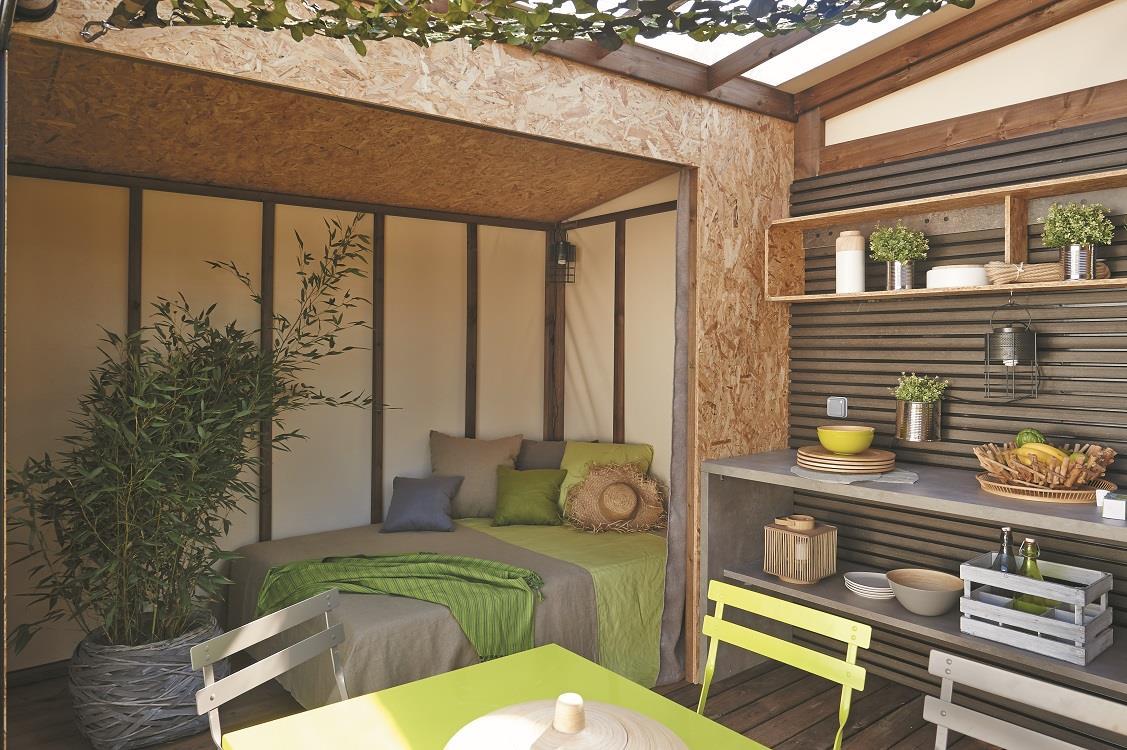 Location - Tente Maori 2/4 Pers 17M2 (0-1 An) Sans Sanitaires Privés - Camping Les Albères