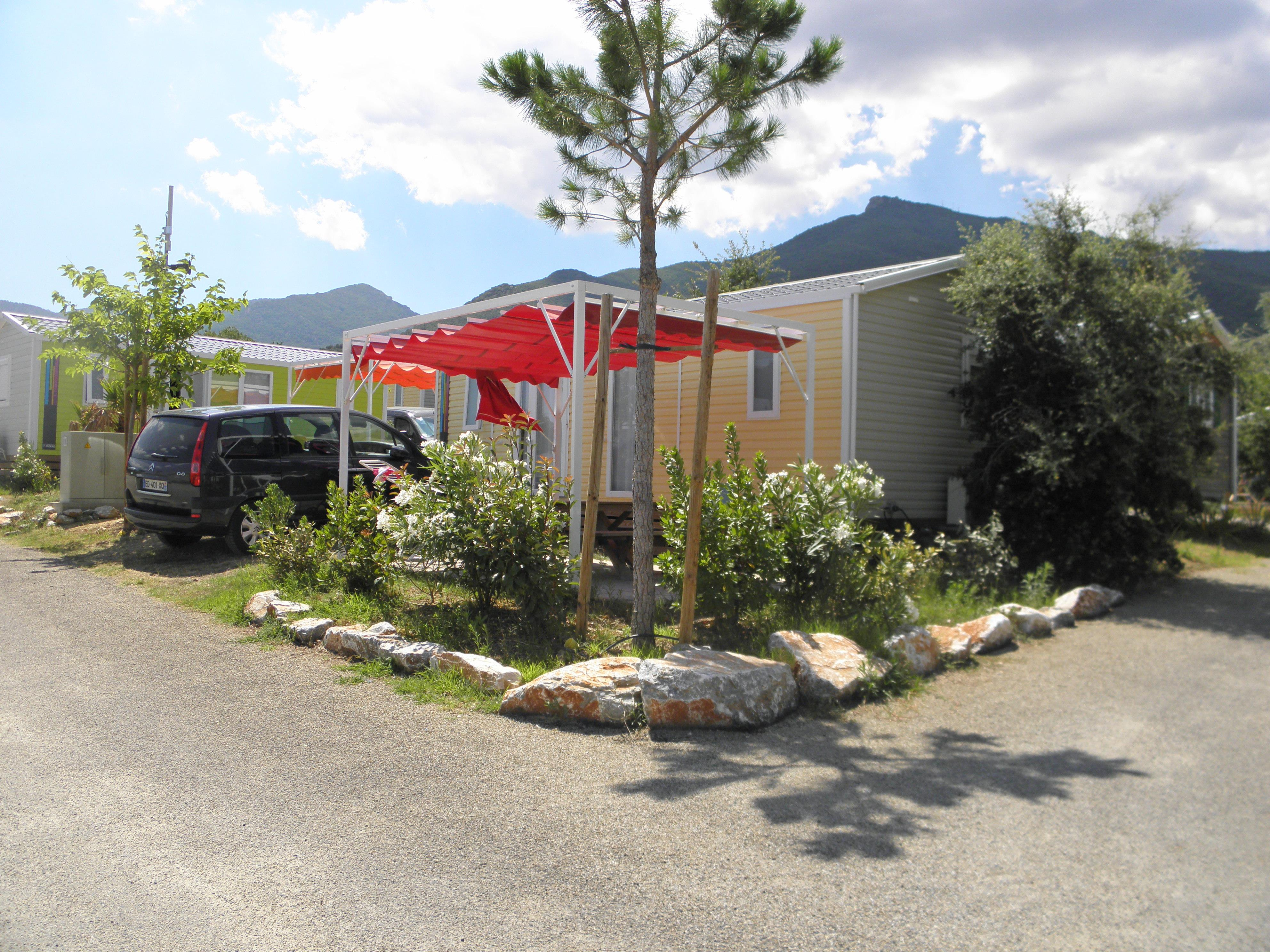 Location - Mobil-Home Passion 32M² - 2 Chambres / Terrasse - Camping Les Albères
