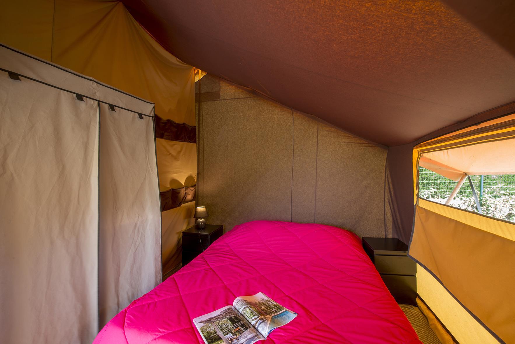 Location - Tente Natura 25M² - 2 Chambres - Terrasse Semi-Couverte / Sans Sanitaires Privés (3 Ans) - Camping Les Albères
