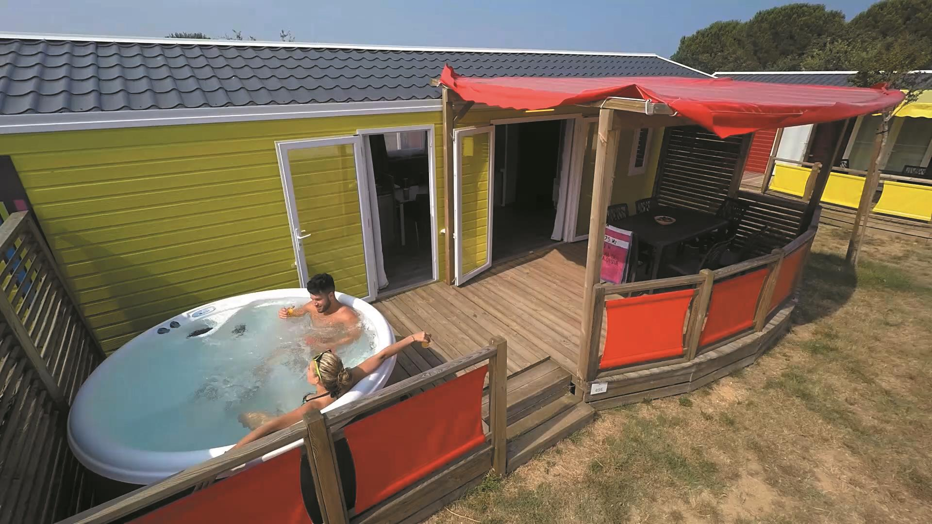 Location - Gamme Duo Premium Plus 32 M2 2 Chambres/2 Salles De Bain Avec Jacuzzi - Camping Les Albères