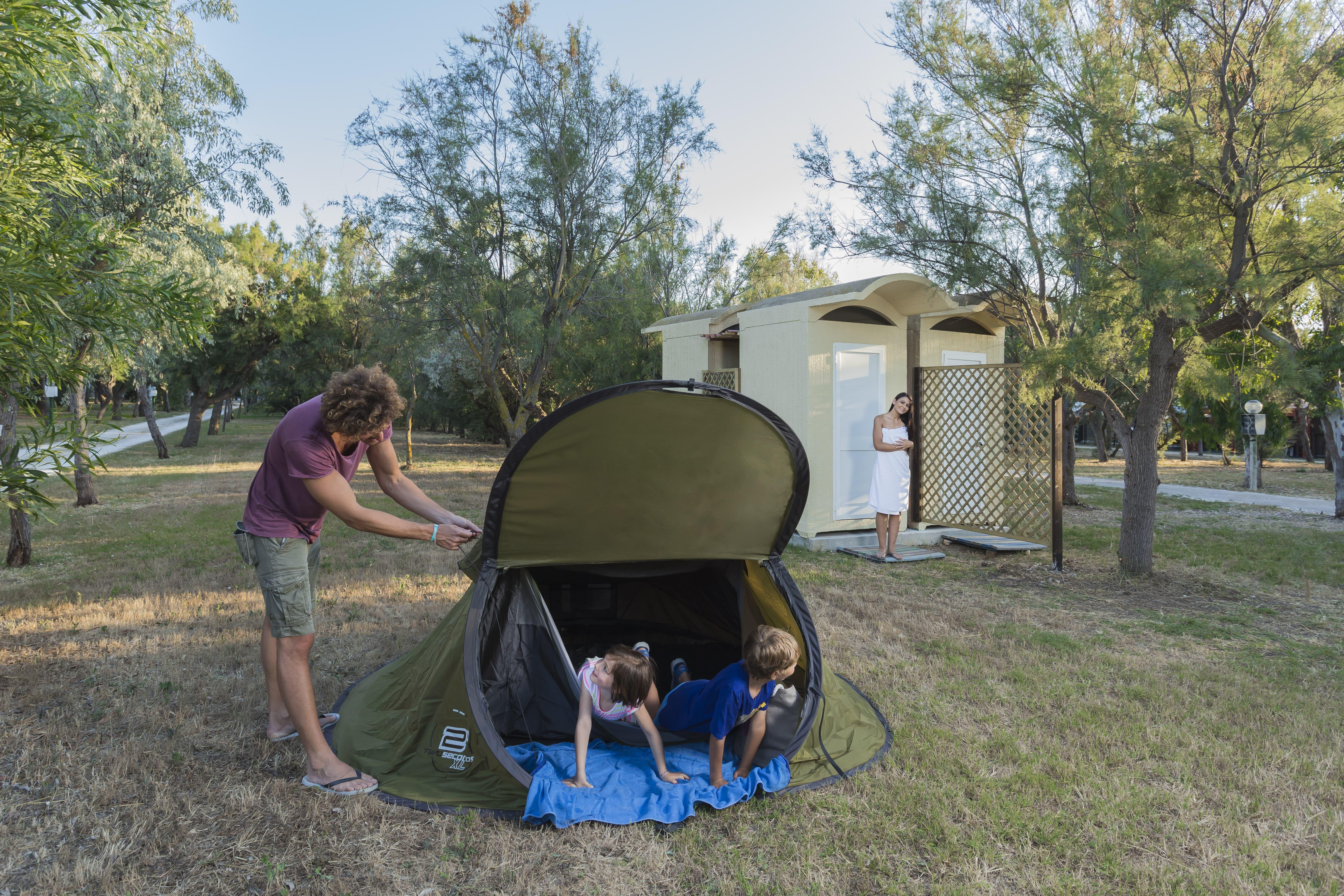 Pitch - Pitch Small Tent (Without Electricity) + Vehicle/Motorcycle - Torre Rinalda Camping Village