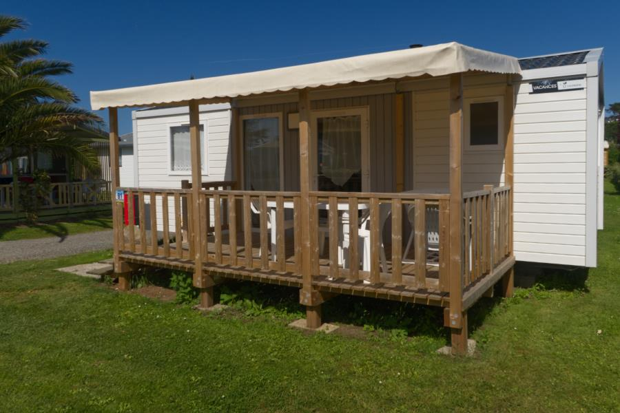 Location - Mobilhome Confort Plus 29M² - 2 Chambres - Terrasse Couverte - Camping Le Mat