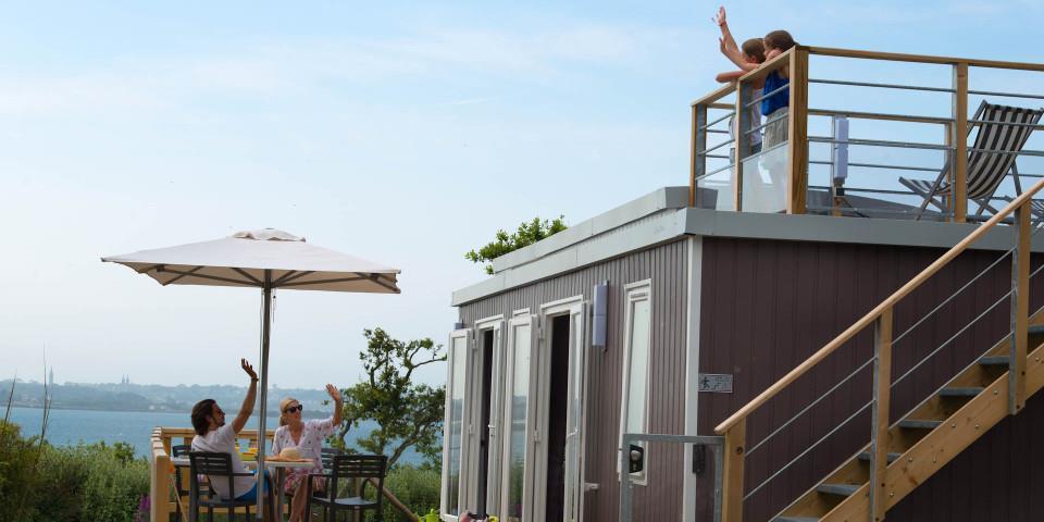 Location - Cottage Bahia Lodge Premium 2 Chambres Vue Sur Mer - Yelloh! Village Les Mouettes