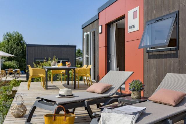 Location - Cottage Natura Lodge Premium 2 Chambres 2 Salles De Bain - Yelloh! Village Les Mouettes