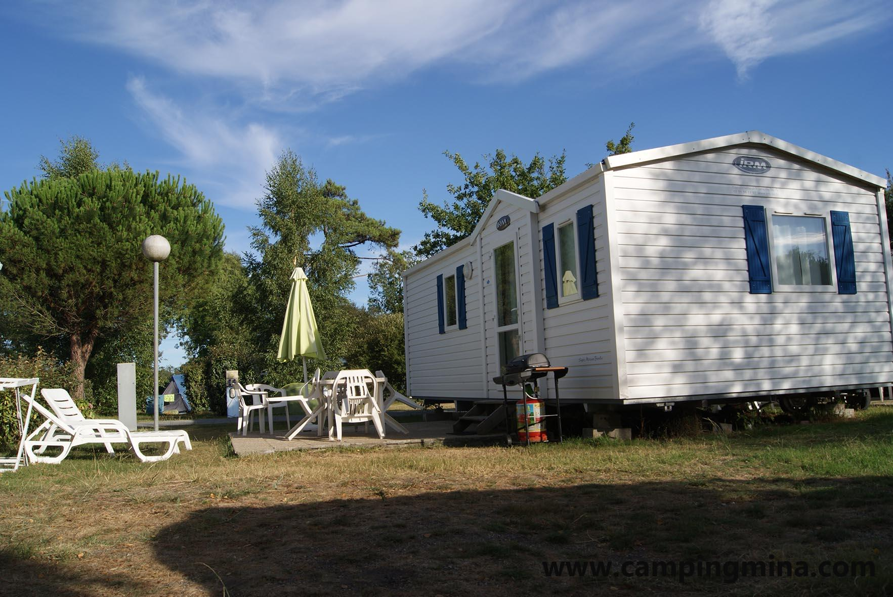 Location - Mobil-Home Confort + 28M² (2 Chambres) Côté Camping - Camping Les Étangs Mina