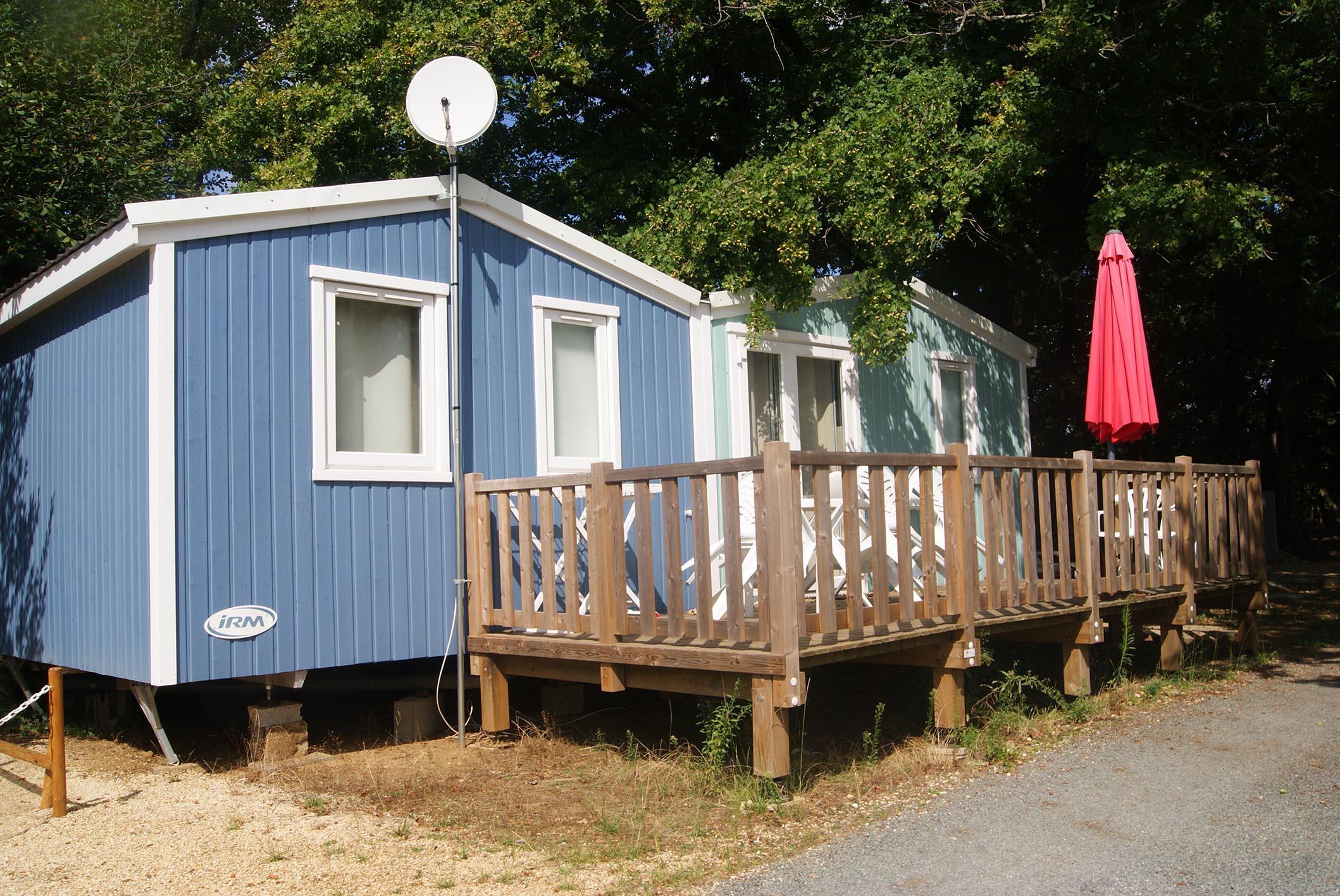 Location - Mobil-Home Premium 35M² (3 Chambres) Côté Étang - Camping Les Étangs Mina