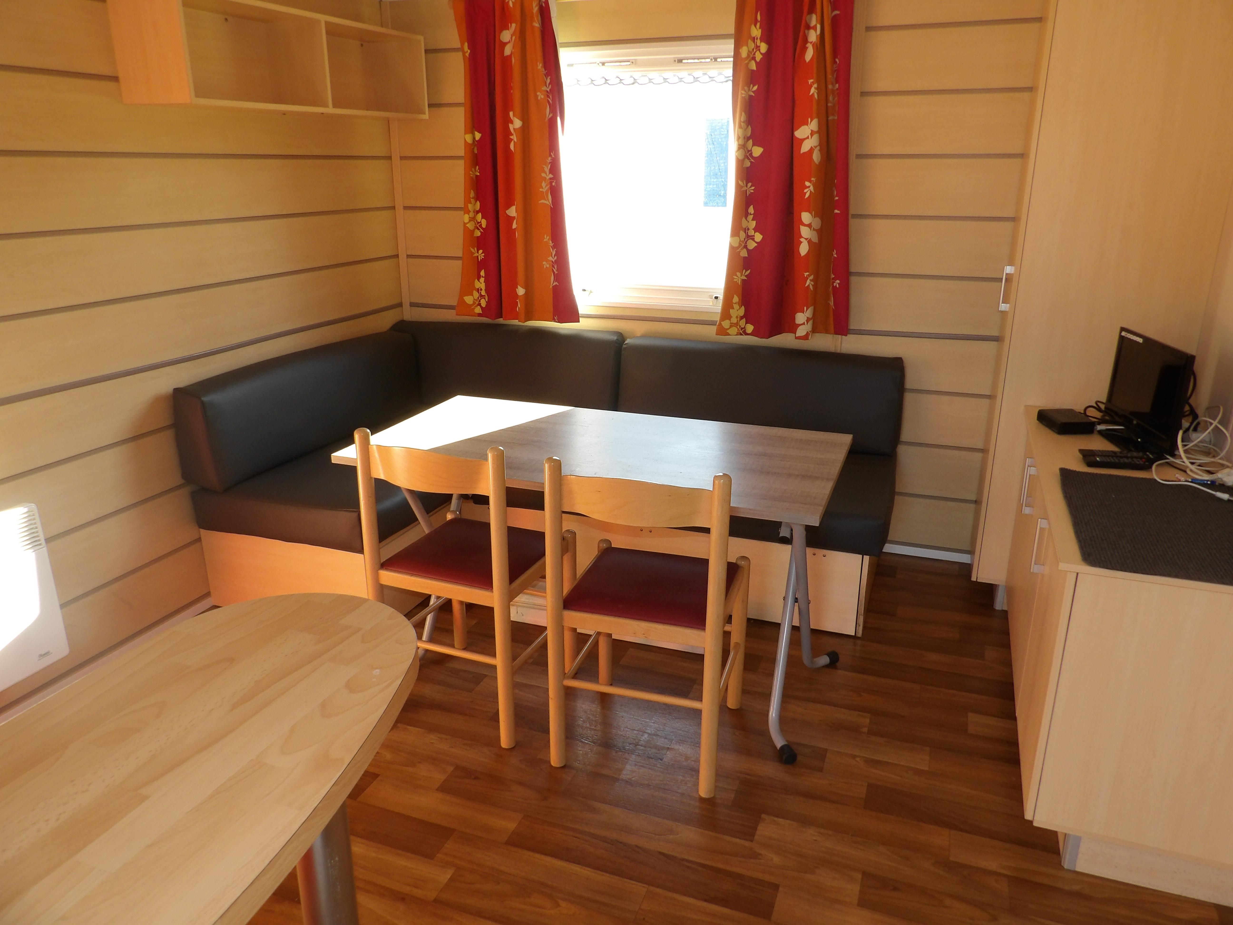 Location - Mobil-Home Confort 29M² (2 Chambres) Avec Terrasse - Côté Camping - Camping Les Étangs Mina