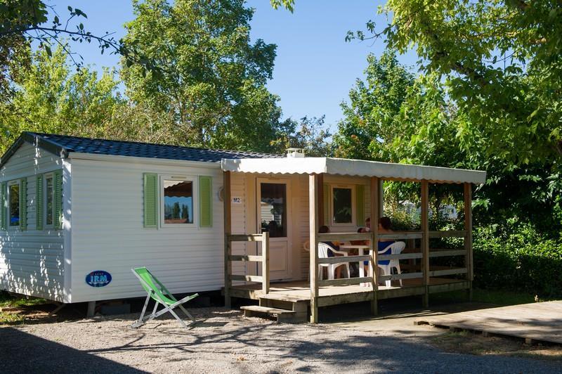 Mobil home 2 chambres - 28 m² + terrasse couverte de 12 m²