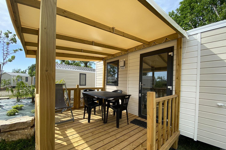Mobil-Home climatisé 1 chambre - 20 m² + terrasse couverte de 8 m²