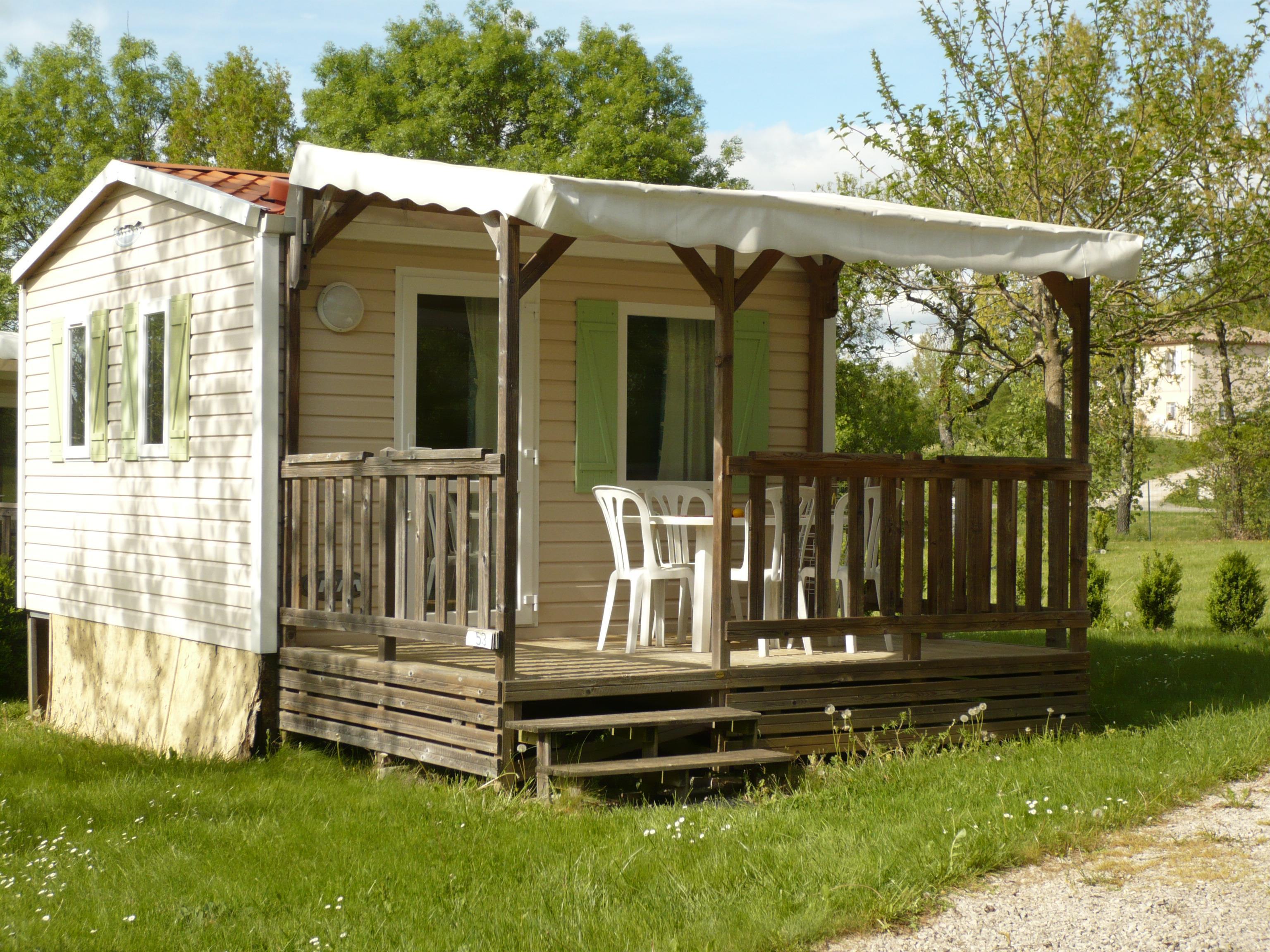 Mobil home 16m² - 1 chambre + terrasse couverte 10m²