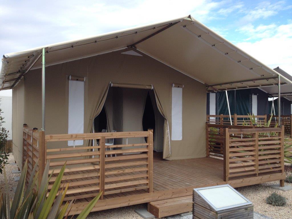 Location - Tente Lodge Sans Sanitaires - Camping Municipal de l'Île de Bidounet