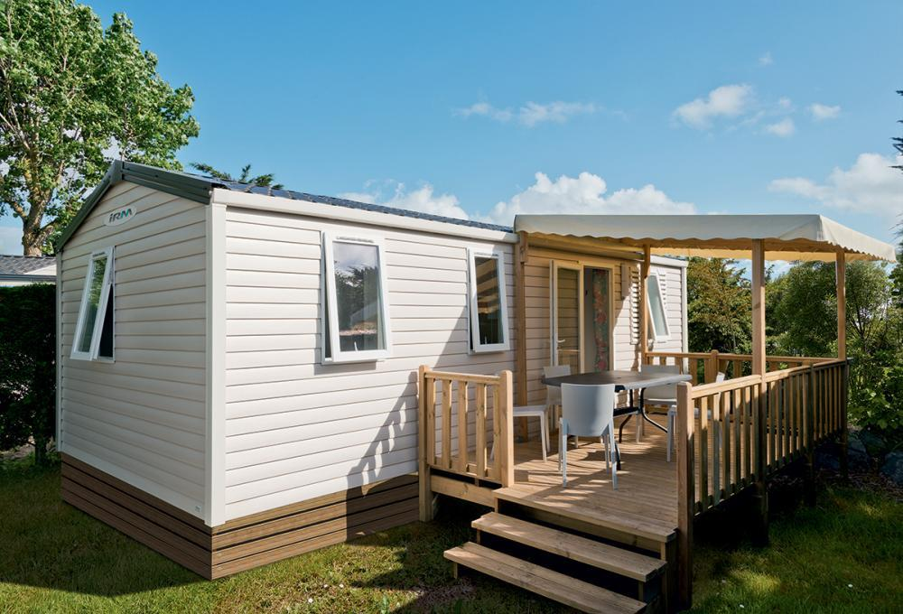 Location - Cottage Confort 3 Chambres + Terrasse Couverte 34M² - Camping La Touesse