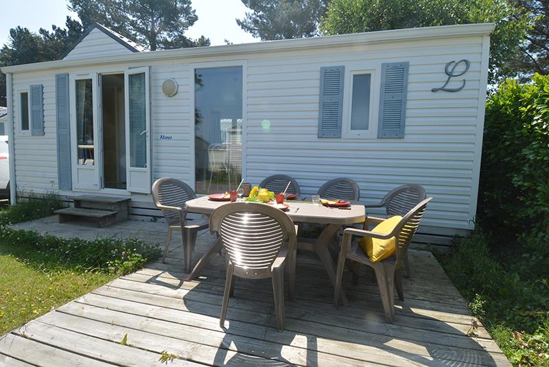 Location - Mobilhome Cottage Flores 31M² 2 Chambres  + Terrasse - Camping La Touesse