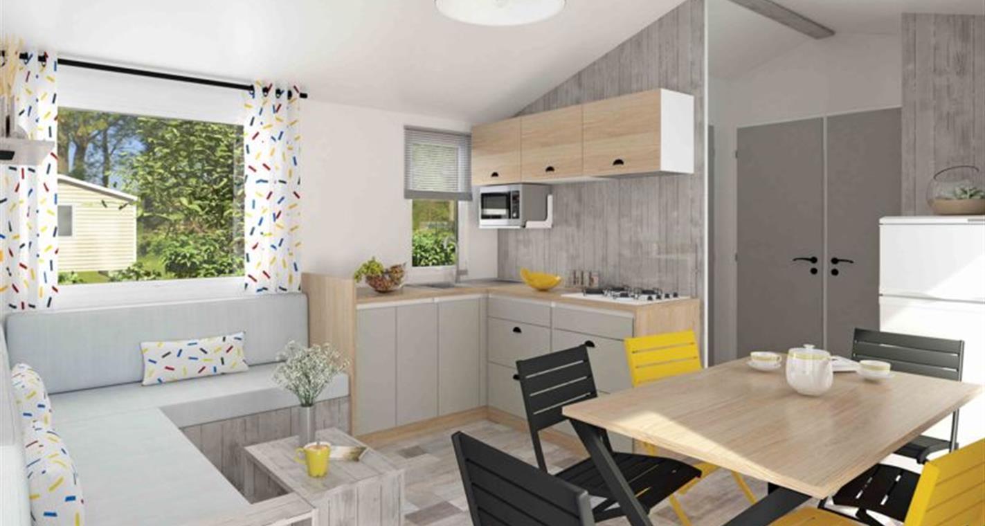 Location - Cottage Premium 36 M² 3 Chambres - 2 Sdb + Terrasse Couverte - Camping La Touesse