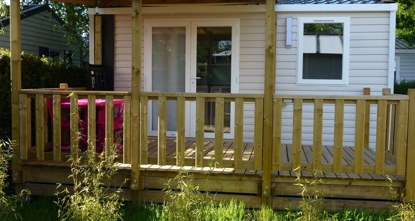 Location - Cottage Cahita 1 Chambre Terrasse Couverte 17M² - Camping La Touesse