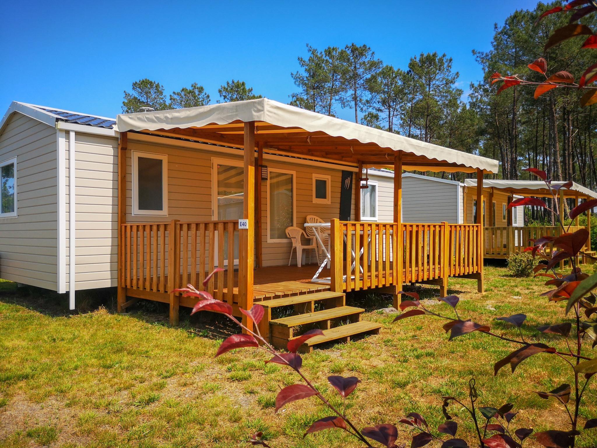 Location - Mobil Home Grand Confort - 3 Chambres - 2 Salles De Bain - Camping Landes Azur