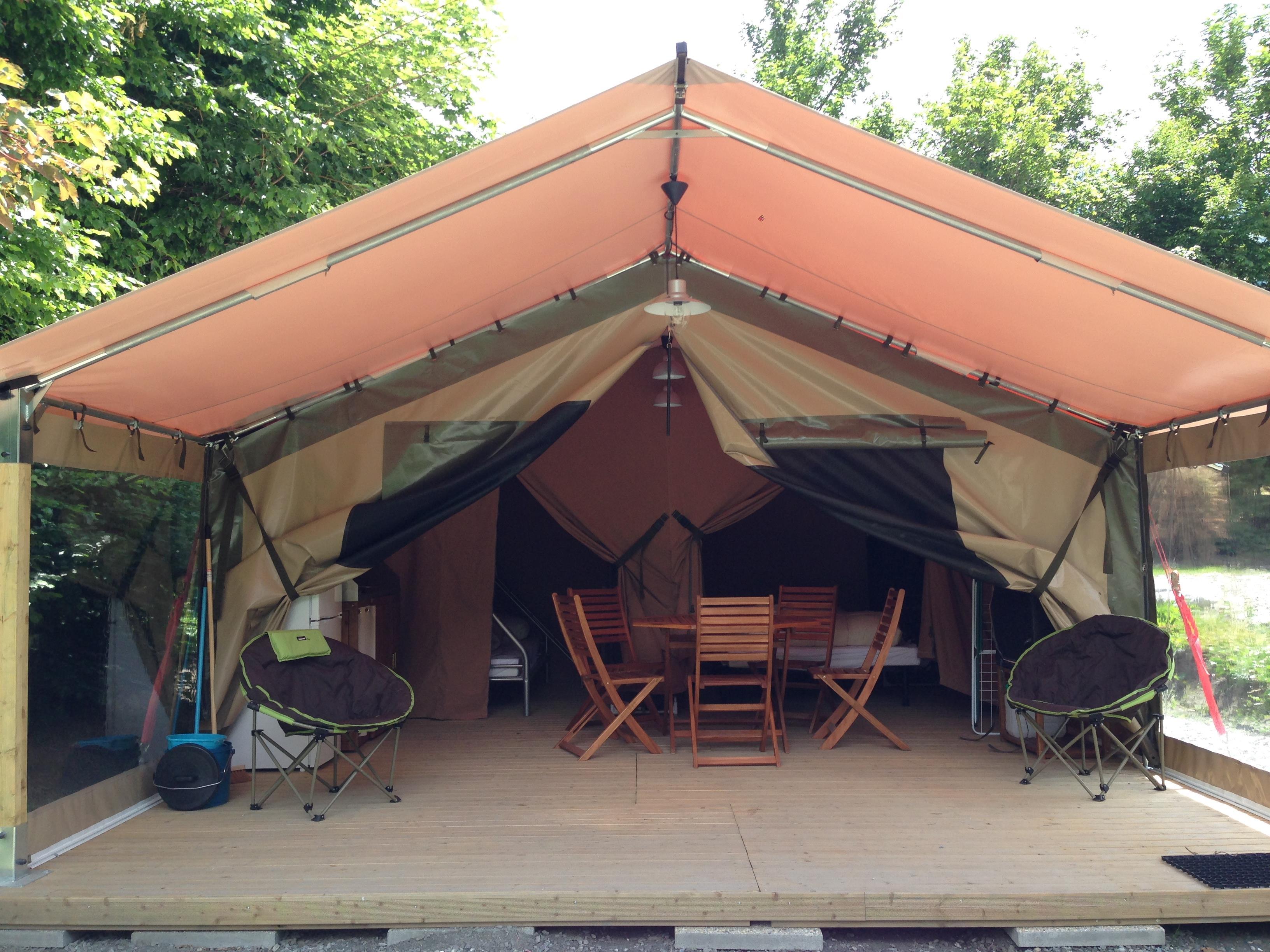 Location - Bungalow Toilé Victoria (2 Chambres, Maximum 5 Personnes) - Camping L'Eden de la Vanoise