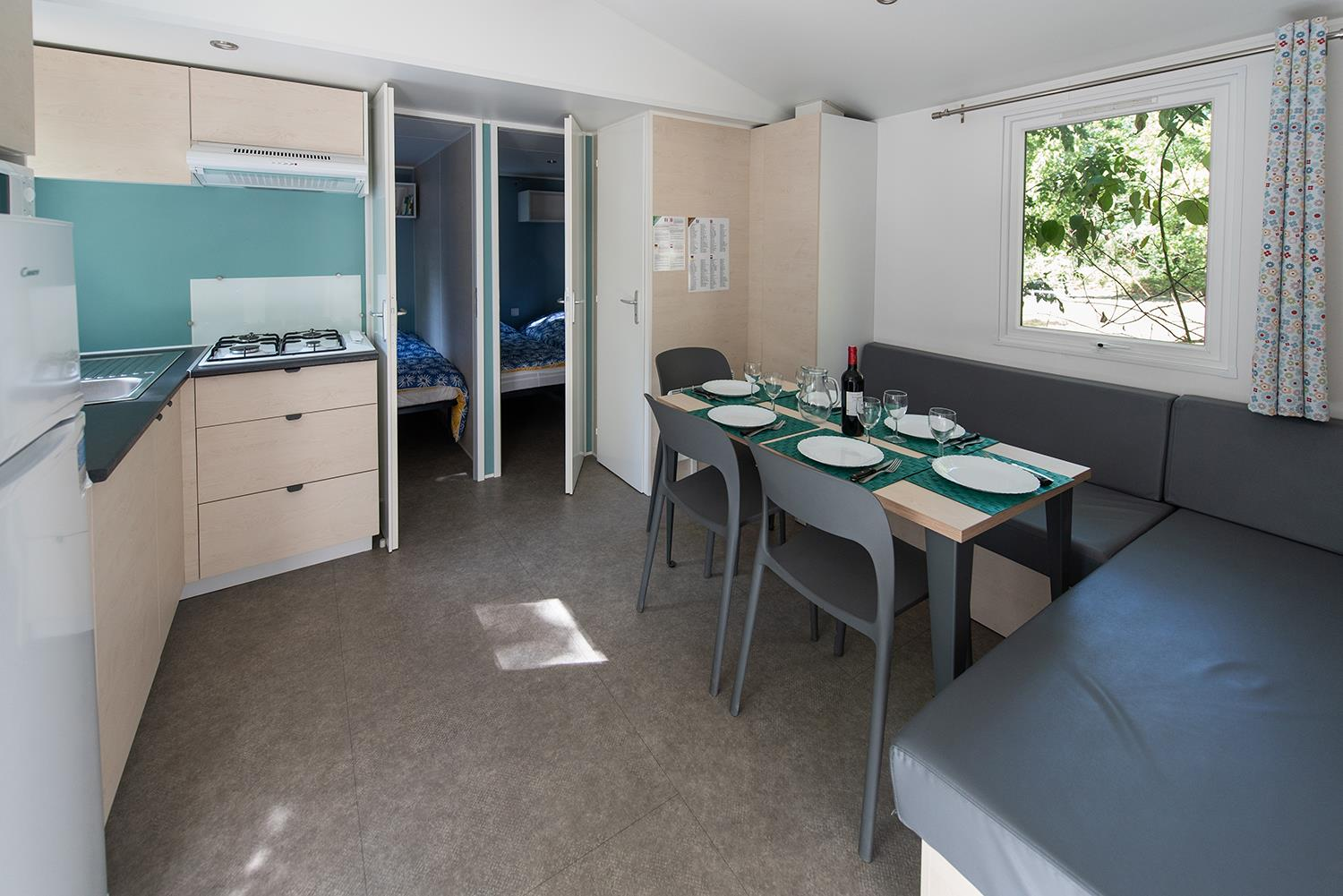 Mobile Home Campagne - 3 chambres - Terrasse