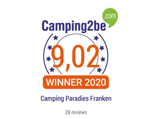 Die Bewertungen des Camping Camping Paradies Franken