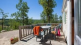 Rental - Mobil-home Confort 28m² (2 bedrooms) + sheltered terrace 11m²+TV - Castel Domaine De La Faurie