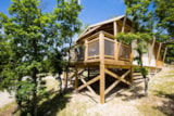 Rental - Lodge Safari Premium on piles 1,50m 43m² with terrace 10,50m² (2 bedrooms) + TV - Castel Domaine De La Faurie