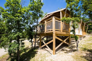 Lodge Safari Premium on piles 1,50m 43m² with terrace 10,50m² (2 bedrooms) + TV