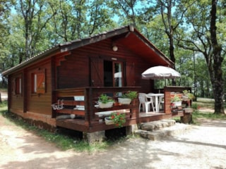 The authentic wooden chalet with big terrace