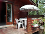 Rental - The authentic wooden chalet with big terrace - Camping LA TRUFFIERE à Saint Cirq Lapopie