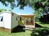 Rental - Cottage ESPACE TRIBU - 3 rooms with covered terrace 18m² - Camping Sites et Paysages LE VENTOULOU