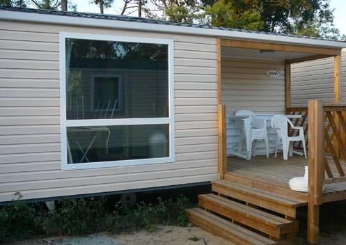 Location - Mobil-Home Loisir 27M² / 2 Chambres - Terrasse - Camping Les Sables d'Argent
