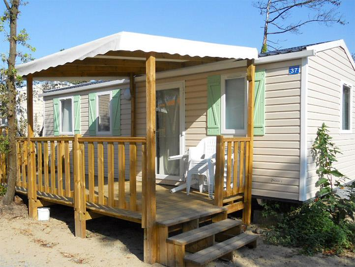 Location - Mobil-Home Grand Large 30M² / 3 Chambres - Terrasse Couverte - Camping Les Sables d'Argent