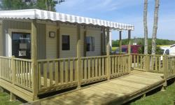 Mobilhome Confort (2 rooms) with terrace 28 à 31m²  adapted to the people with reduced mobility