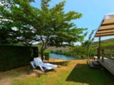Rental - Locky Mobile home 21m² (Economic + 10 years)-  Saturday or Friday -  extra charge for the 5th person - Camping de la Cascade