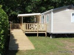 Mobil-home Confort+ 32 m² (2 bedrooms) with terrace - adapted to the people with reduced mobility