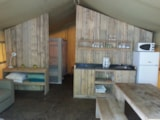 Rental - Logde Safari 2 bedrooms 35m² - Camping Bellerive