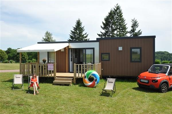 Location - Mobil Home New Valley 39,5 M² - 3 Chambres - Camping Lac de la Liez
