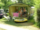 Rental - Chalet Morea with covered terrace TV + wifi - Airotel Camping Au Soleil d'Oc
