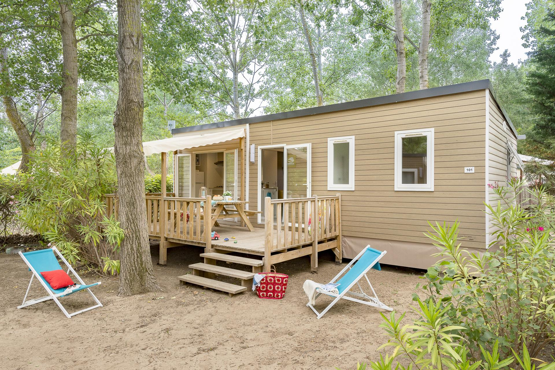 Location - Cottage 3 Chambres Climatisation*** - Camping Sandaya Les Vagues