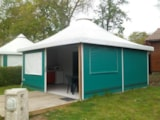 Rental - Bungalow PAGAN 25m² - 2 bedrooms - without toilet block - Camping Le Pont Rouge