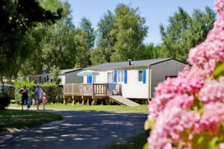Mobile home 2 bedrooms - 1 bathroom -terrace -TV (French channels) - Wheelchair friendly