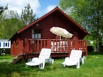 Rental - Wooden house- 2 bedrooms - 1 bathroom - 36m² - Camping Le Ty Nadan