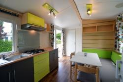Mobile-home Familial + with raised decking - 2 bedrooms