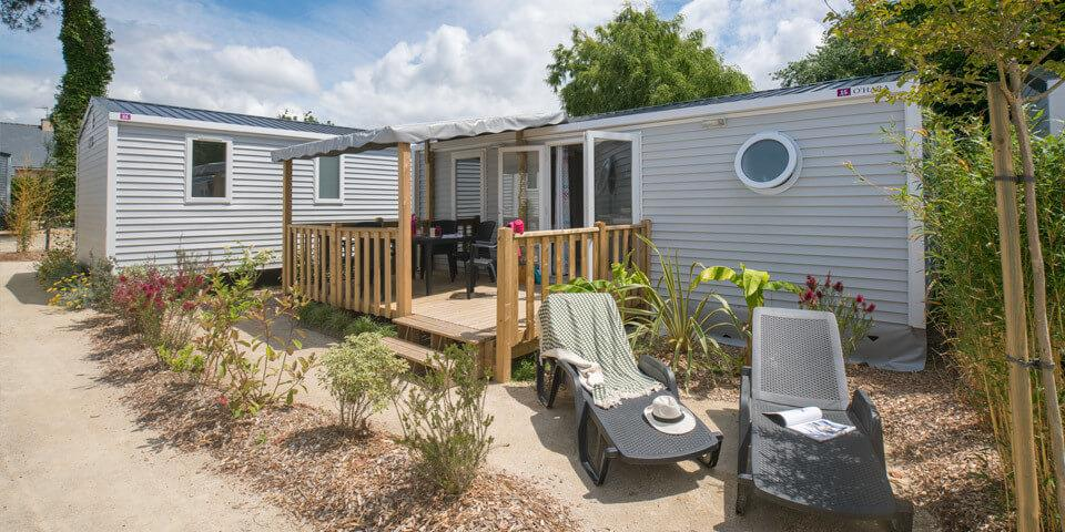 Location - Mobil-Home Caraïbes - 2 Chambres - Camping Les Iles